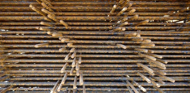 Building reinforcement rust texture. For construction background stock image
