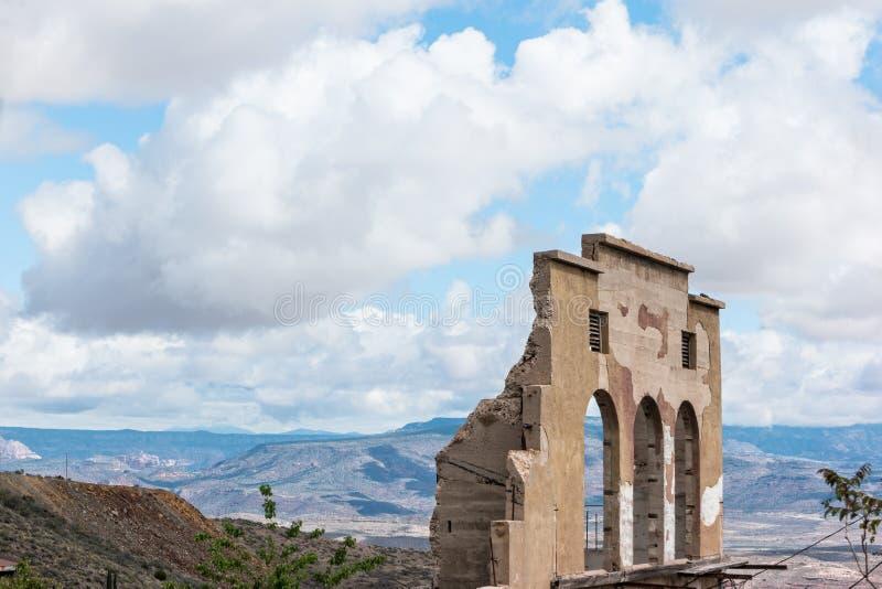 Building remains, Jerome, Arizona royalty free stock images