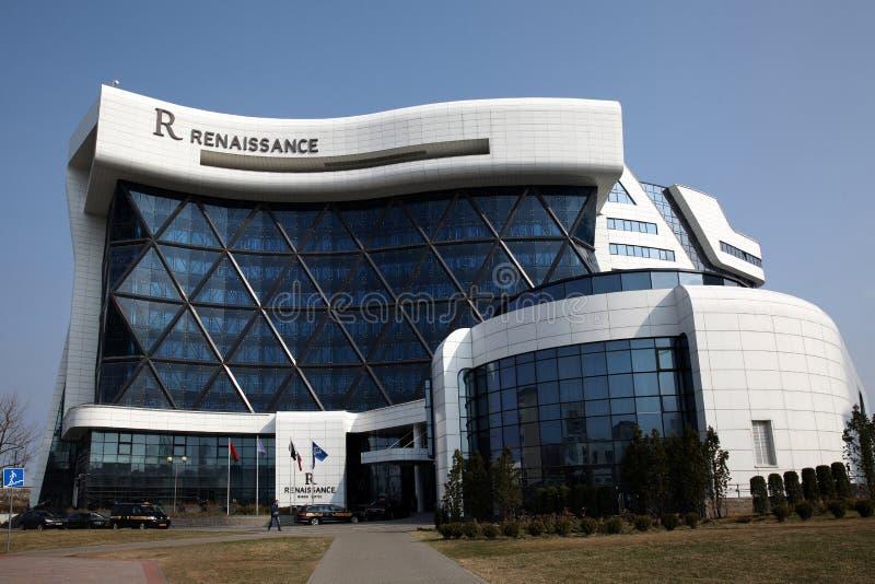 The building of the Renaissance Hotel on Dzerzhinsky Avenue royalty free stock photos