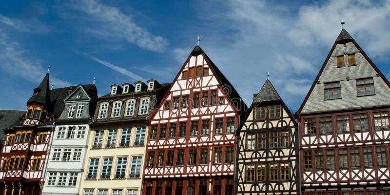 Building at Romer Platz in Frankfurt royalty free stock photography