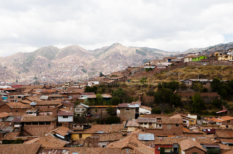 Building Roofs - Cusco - Peru stock images