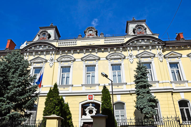 Building of the Russian Embassy. Debrecen, Hungary royalty free stock photo