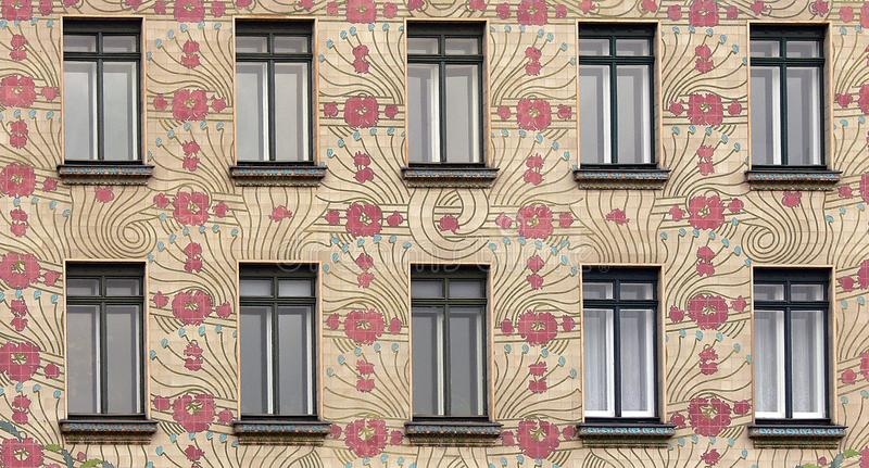 Download Detail Of A Art Nouveau House In Vienna, Austria Stock Photo    Image Of