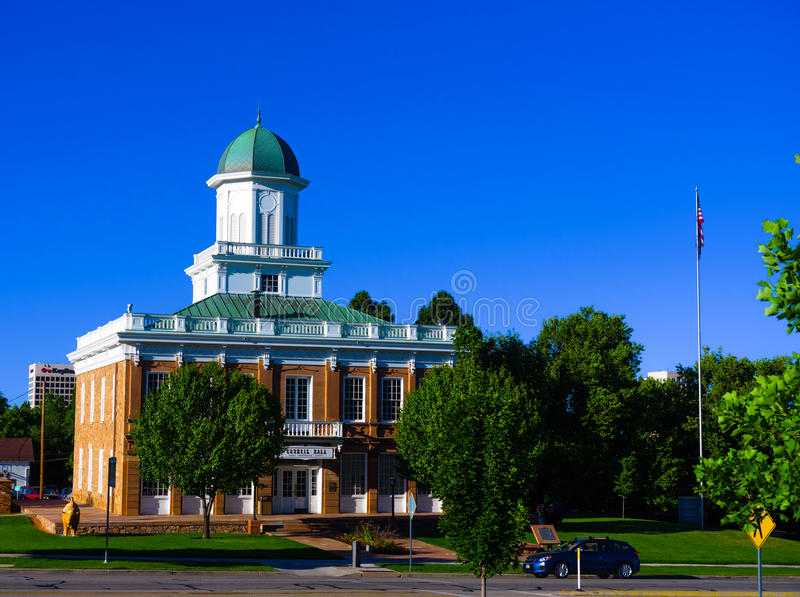 The building in salt lake city. This building in salt lake city is near Utah State Capitol royalty free stock images