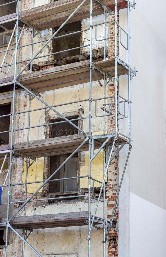 Download Building With A Scaffolding Stock Photo - Image of wall, high: 115929998
