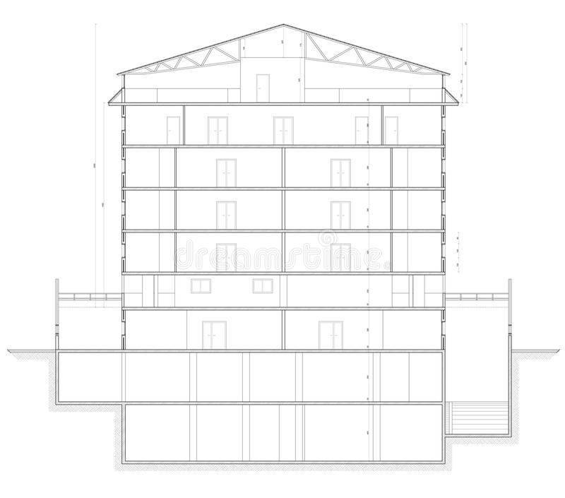 Building Section Plan stock photography