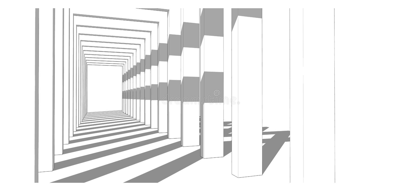 Building : shade shadow royalty free stock image