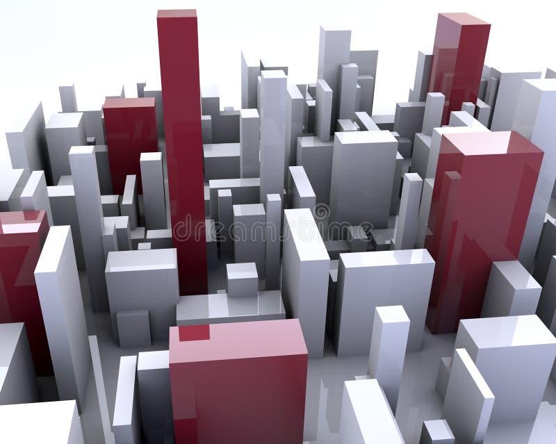 Building simulation stock photos