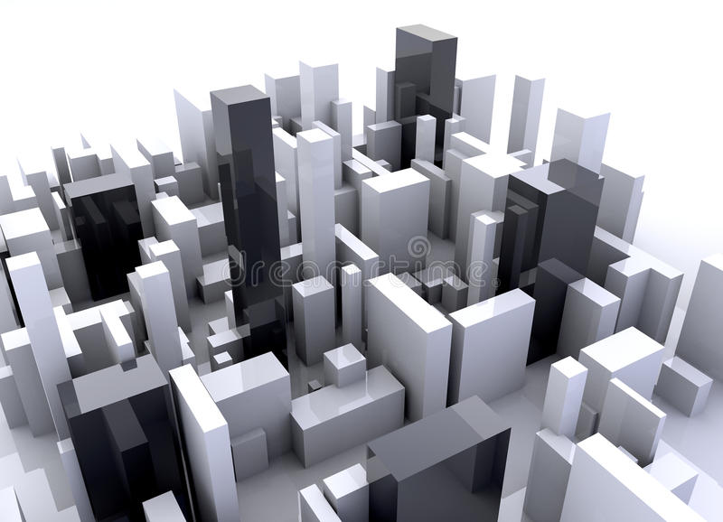 Building simulation stock photo