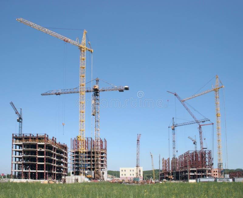 Download Building site stock image. Image of site, cranes, build - 23154309
