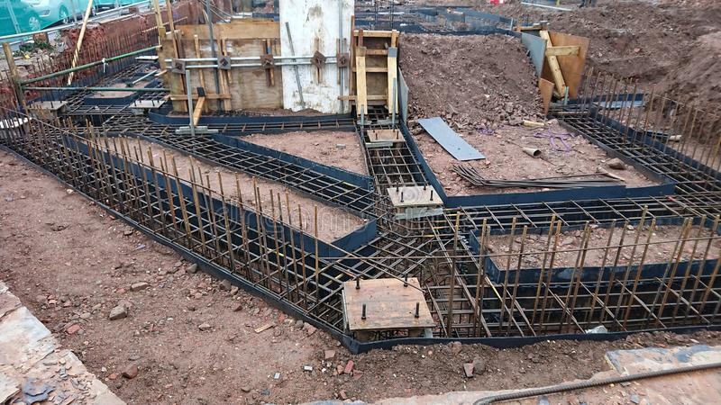 Building Site Foundations royalty free stock image