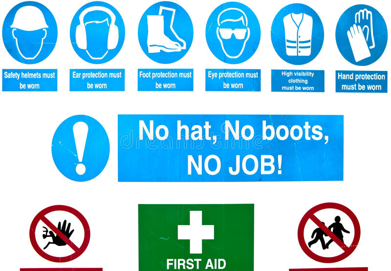 Building site safety royalty free stock image