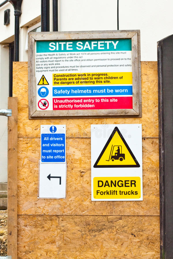 Download Building site signs stock image. Image of measures, construction - 21894899
