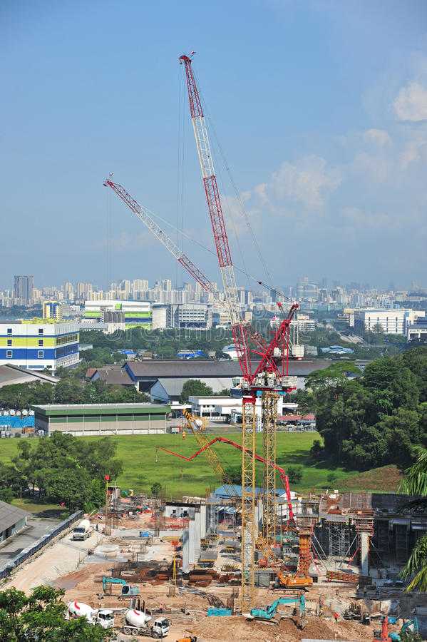 Building Site With Tower Cranes stock photos