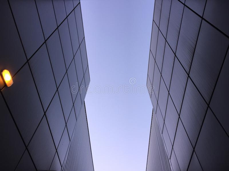 Building in the sky royalty free stock photo