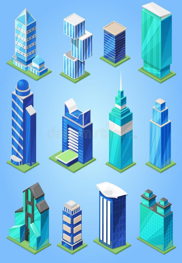 Building skyscraper in cityscape vector city skyline and business officebuilding of commercial company and build vector illustration