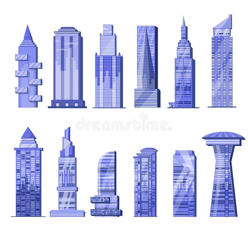 Building skyscraper vector city skyline and business officebuilding of commercial company and build architecture in in vector illustration