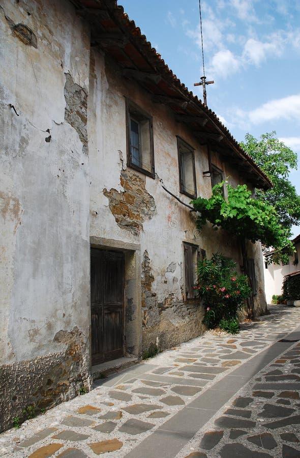 Building in Smartno. Old historic, yet rather delapidated building in the historic Slovenian town of Smartno in the Goriska Brda area royalty free stock image