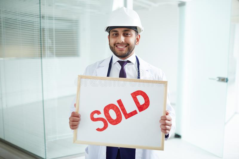 Building is sold royalty free stock images
