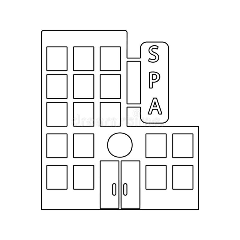building of the spa center icon. Element of SPA for mobile concept and web apps icon. Thin line icon for website design and vector illustration
