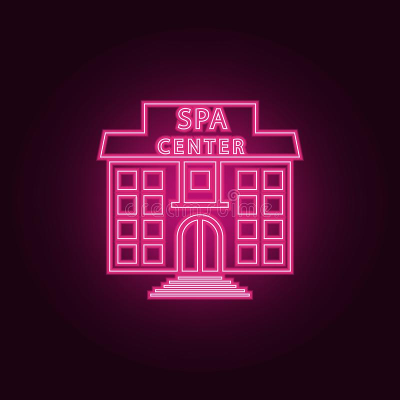 building of the spa center icon. Elements of SPA in neon style icons. Simple icon for websites, web design, mobile app, info vector illustration