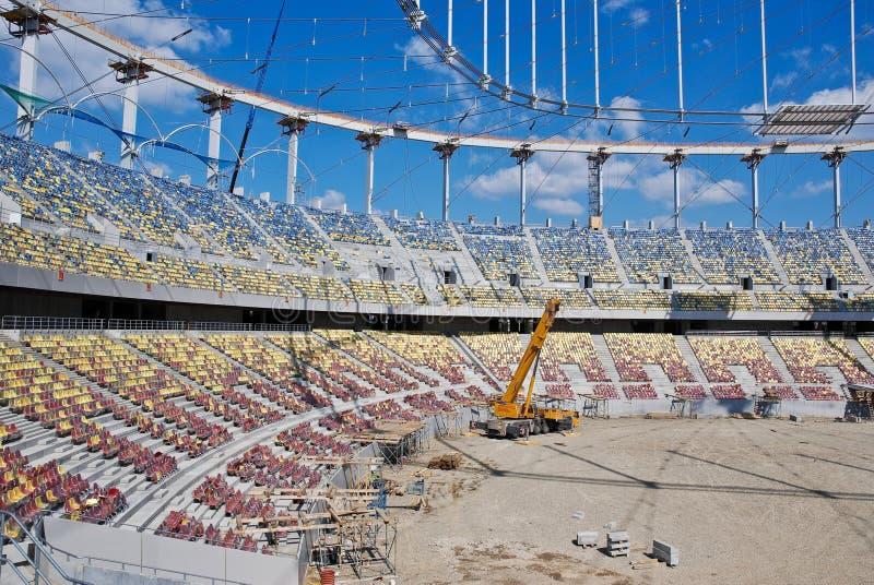 Building a Stadium - Construction Site royalty free stock photos