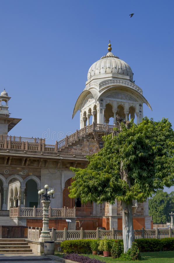 The building the state central museum Albert Hall the State of Rajasthan in India. Building the state central museum Albert Hall the State of Rajasthan in India stock image