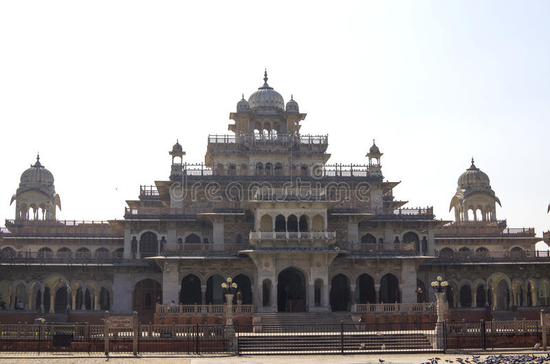 The building the state central museum Albert Hall the State of Rajasthan in India. Building the state central museum Albert Hall the State of Rajasthan in India stock images