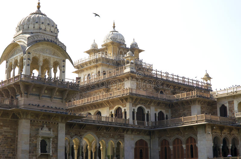 The building the state central museum Albert Hall the State of Rajasthan in India. Building the state central museum Albert Hall the State of Rajasthan in India stock photography