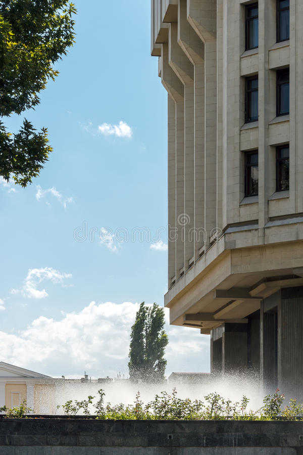 The building of the State Council of the Republic of Crimea in Simferopol stock photo