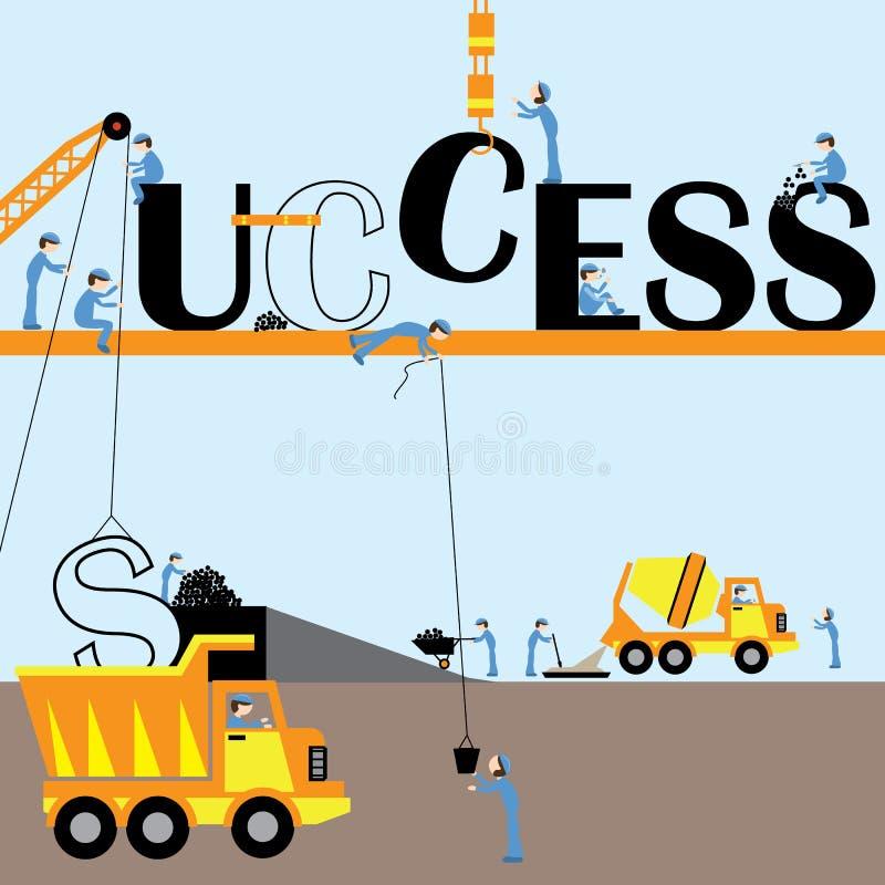 Building success royalty free illustration