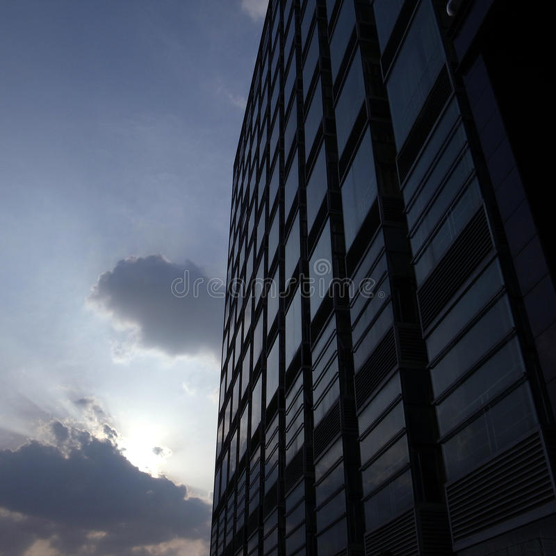 Download Building in the sunset stock image. Image of modern, reflective - 24354913