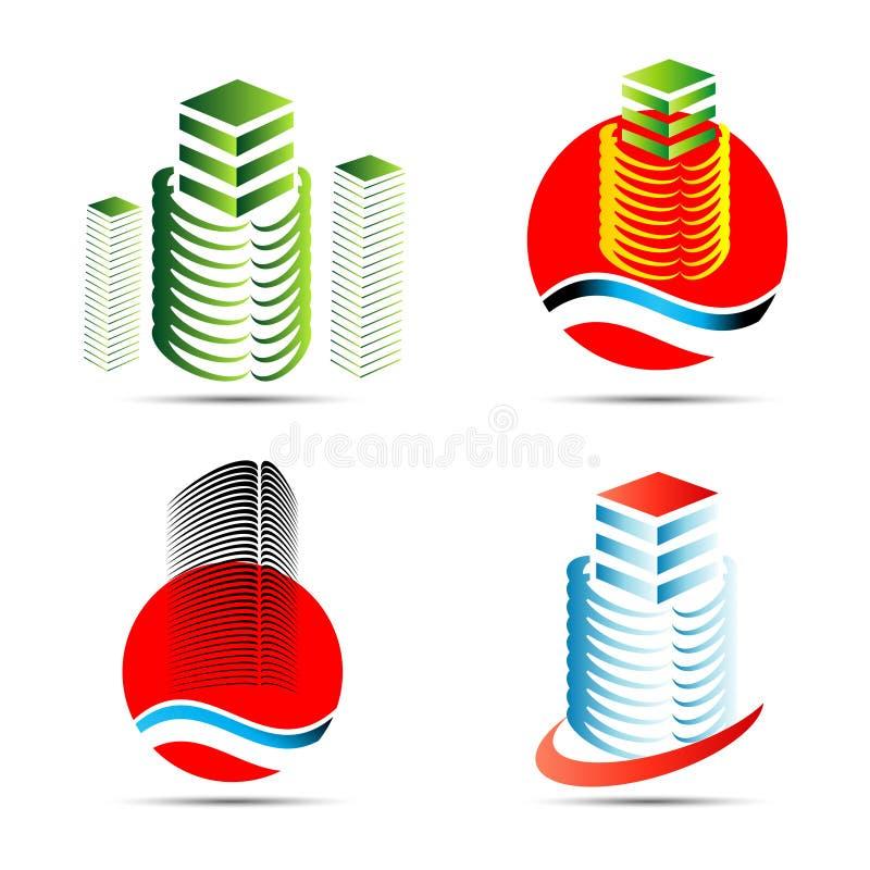 Building symbol. Building logo for Real estate company vector illustration
