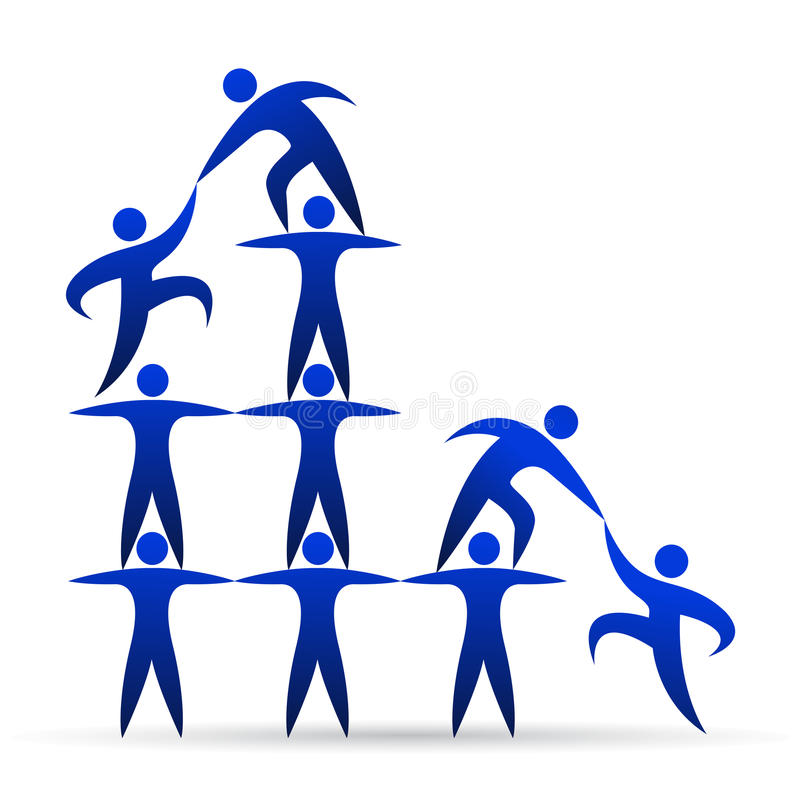 Building teamwork stock illustration