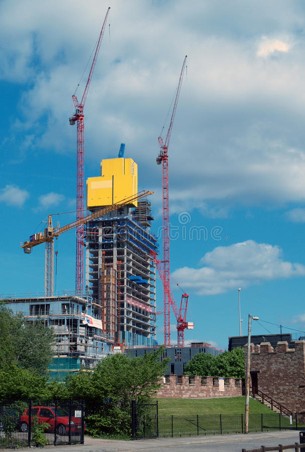 Building to the sky, Manchester stock image
