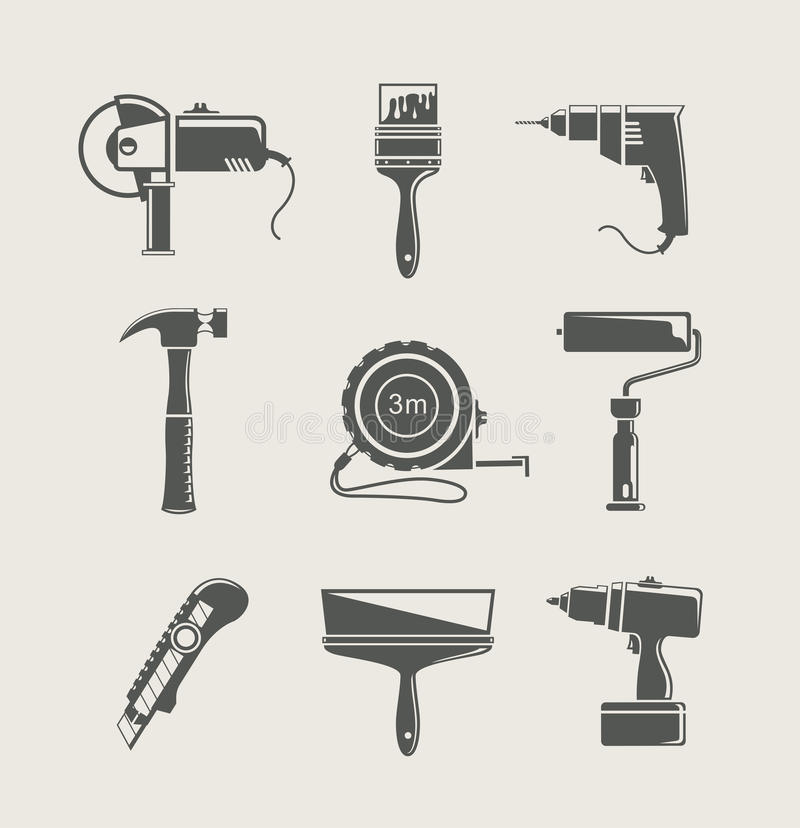 Download Building Tool Icon Set Stock Photography - Image: 25227712