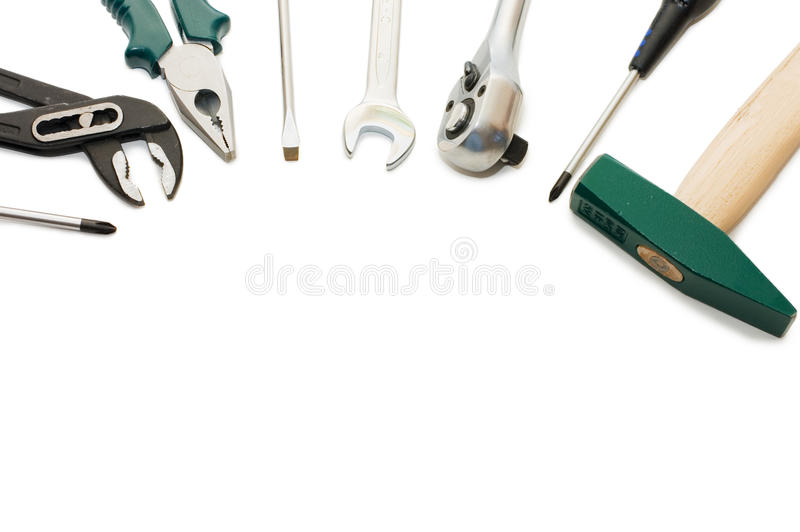 Building tools isolated on white background stock photography