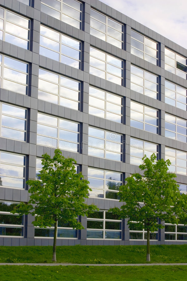 Building with trees royalty free stock photography
