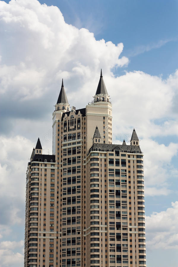 Download Building with turrets stock image. Image of architecture - 39500887