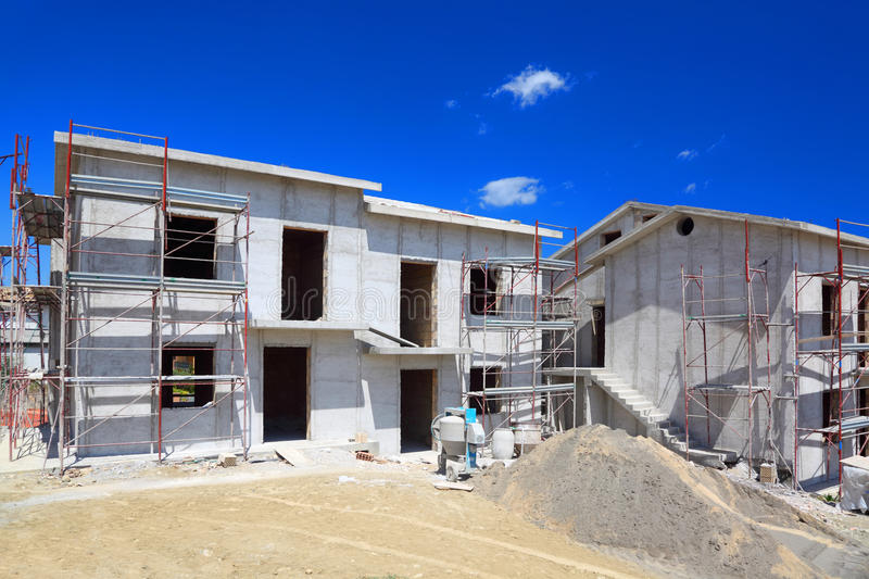 Download Building Of Two-story Concrete House Stock Image - Image: 17887861