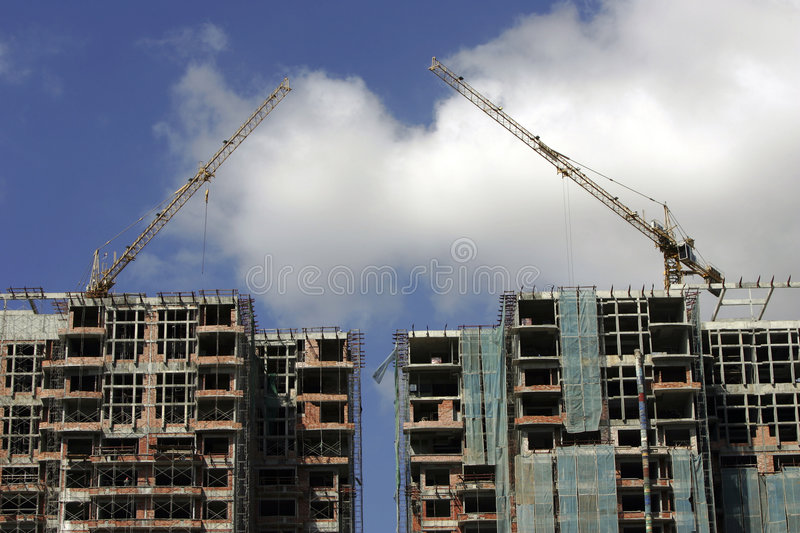Download Building Under Construction Stock Image - Image: 500743