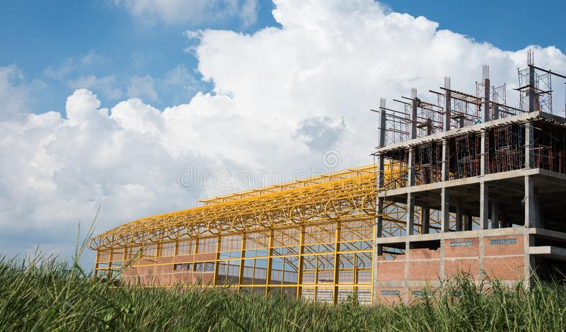 building under construction stock images