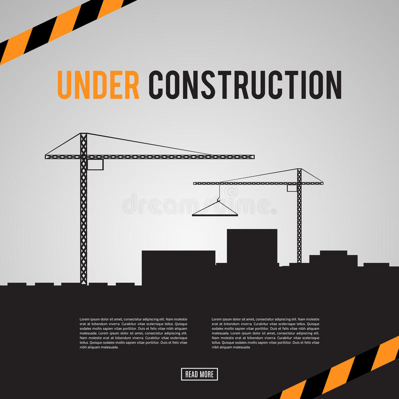 Building under Construction site vector illustration