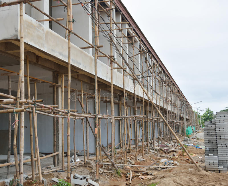 Building Under Construction In Thailand Royalty Free Stock Photography