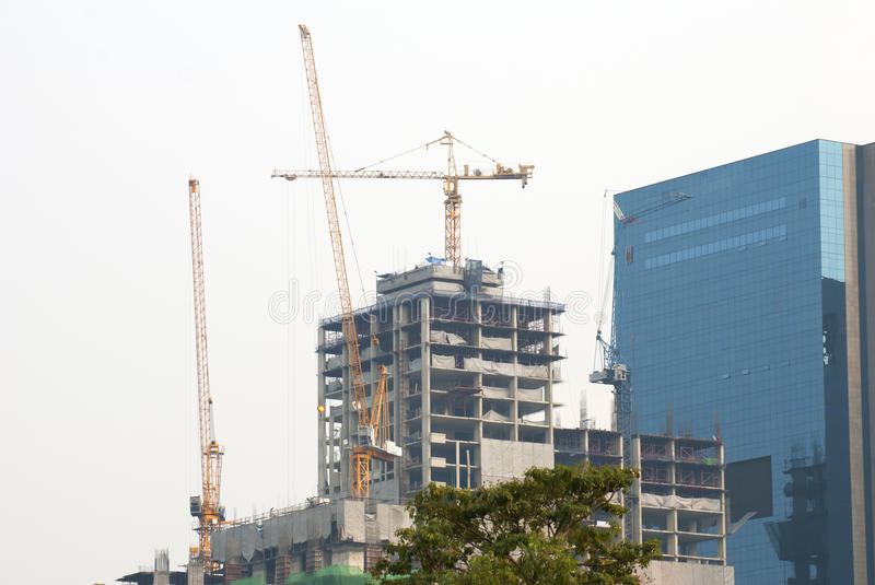 Download Building under contruction stock image. Image of district - 32072723