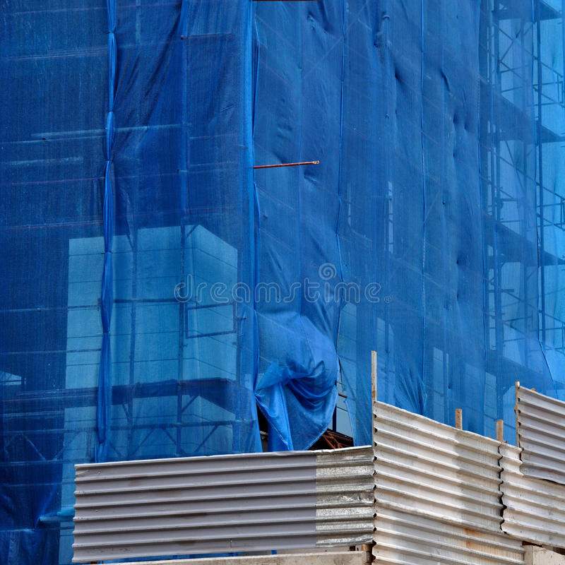Download Building Under Debris Netting At Construction Site Stock Photo - Image: 22215606