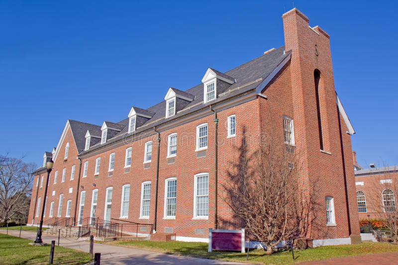 Building on a university campus stock photo