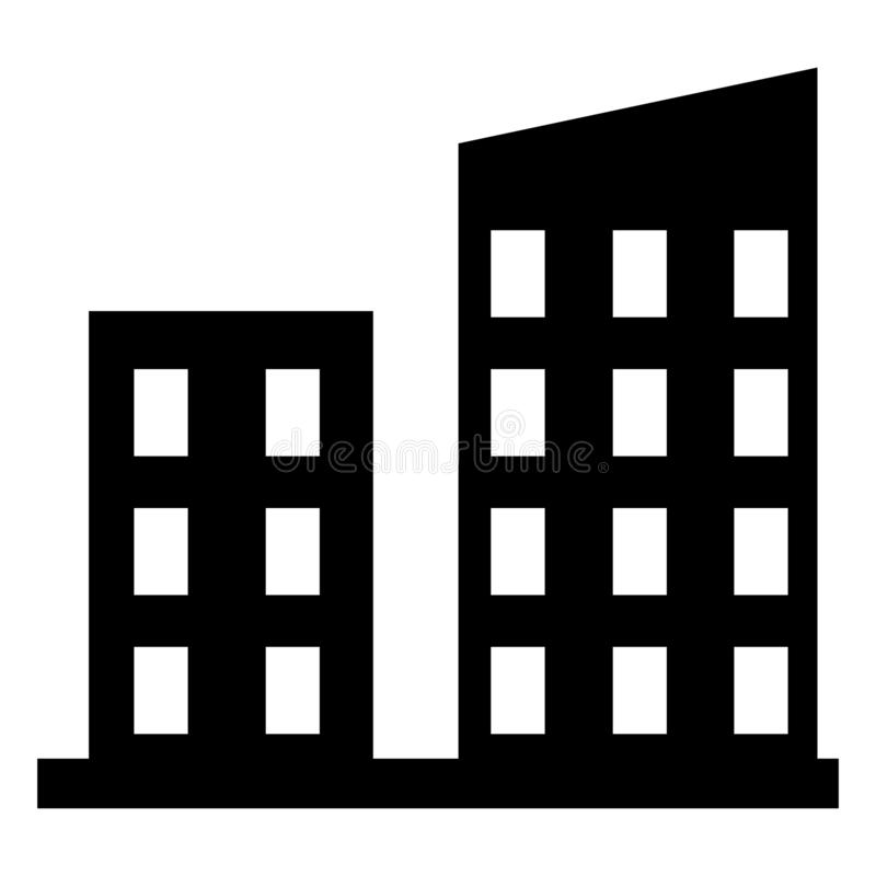 Building vector icon. monochrome vector icon illustration. Building symbol vector illustration