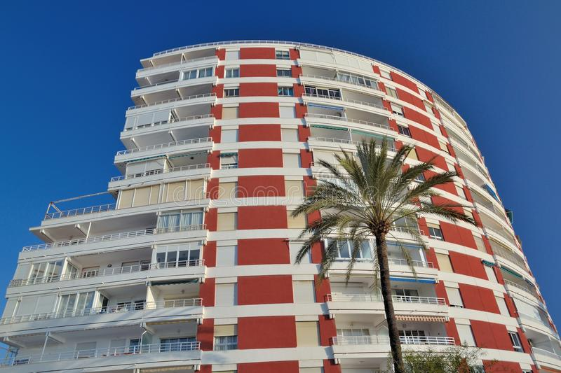 Building in Velez-Malaga. Building on the beach front in Velez-Malaga royalty free stock images