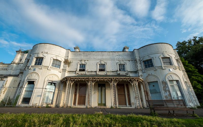 Unrenovated building at Gunnersbury Park and Museum on the Gunnersbury Estate, London UK, once owned by the Rothschild family. Building waiting to be renovated royalty free stock image